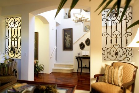 decorating-the-hall-with-a-staircase-path-in-addition-to