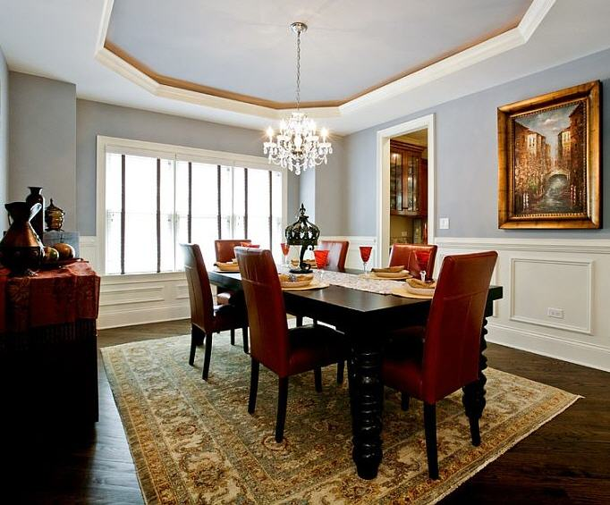 Dining Room With Red Furniture